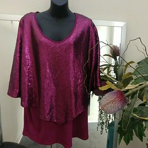 Reba Woman Sequined Top-1X